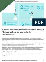 7 Hábitos de Los Emprendedores Altamente Efectivos (Síntesis Ilustrada Del Best Seller de Stephen Covey)