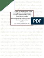 Manual Resumen de Metodología de La Investigación Científica UNT
