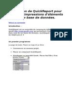 Utilisation de QuickReport Pour Faire Des Impressions d