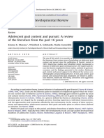 Adolescent Goal Pursuit 16 Years Review
