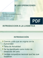 1 LOGISTICA INTRODUCCIÓN