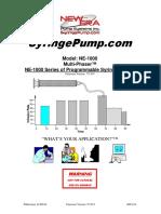 Syringe Pump Operations manual