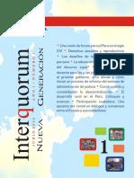 Revista Interquorum Nueva Generación N°1