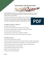 Chef Luis Perrone Método HACCP (Hazard Analysis Critical Control)