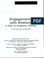 Engagements With Rhetoric a Path to Academic Writing