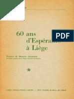 60 Ans d'Espéranto à Liège