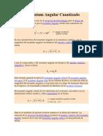 Momentum Angular Cuantizado y Su Relación Con El Momento Vectorial Del Momento Angular Total y en Un Campo Magnetico