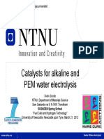 Svein Sunde - Catalysts for Alkaline and PEM Water Electrolysis
