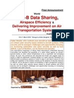 World ADS-B Data Sharing, Airspace Efficiency & Air Transportation Systems Conference 2015 @ Final Agenda