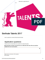 Berlinale Talents - Application Berlin 2017