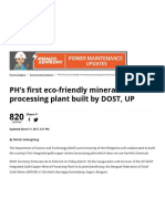 PH's First Eco-friendly Mineral Processing Plant Built by DOST, UP » Manila Bulletin News