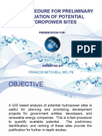 GIS PROCEDURE FOR PRELIMINARY EVALUATION OF POTENTIAL HYDROPOWER SITES