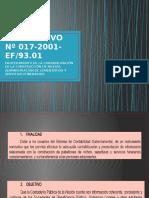 Instructivo Nº 017-2001-Ef Diapos