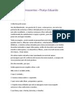 Prisão Para Inocentes - Thalys Eduardo Barbosa