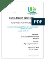 Informe de Laboratorio - Analisis Granulométrico