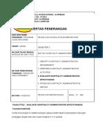 KP 5013 HOSPITALITY ADMINISTRATION