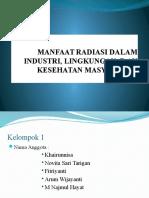 Manfaat Radiasi Dalam Industri, Lingkungan, d
