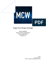 stage one design package - m c w