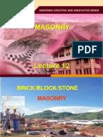 Chapter 10 - Masonry