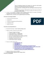 Course Outcome - CAD CAM 1