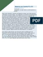 Cargador de Batería Con Fuente PC ATX