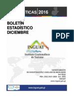 Boletin Estadisticas Turismo Diciembre 2016