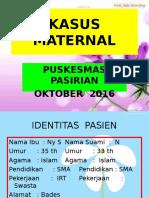 Kasus Maternal ( Bades 2016 )