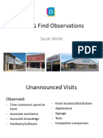 click   find observations