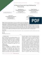Software Piracy Root Detection Framework Using SVM Based On Watermarking