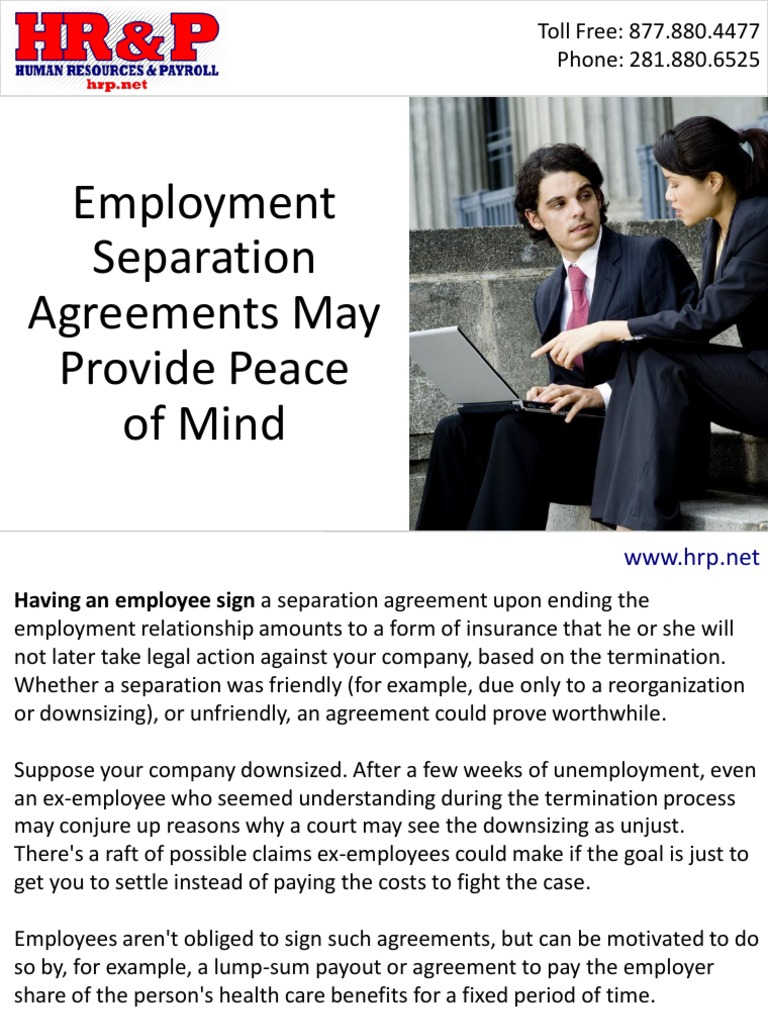 Employment Separation Agreements May Provide Peace of Mind   Layoff