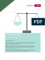 Ethical Dilemmas Answer