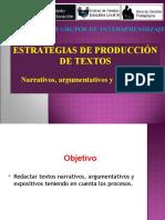 Produccion de Textos Narrativos, Expositivos y Argumentativos