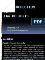 An Introduction to Law of Torts
