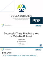 Successful attributes for making you a valuable IT asset.