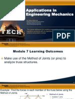 Module 7 Applications in Engineering Mechanics