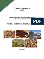 Política Ambiental Regional de Junín