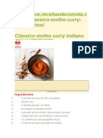 Clássico Molho Curry Indiano