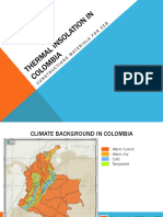 Thermal Insolation in Colombia