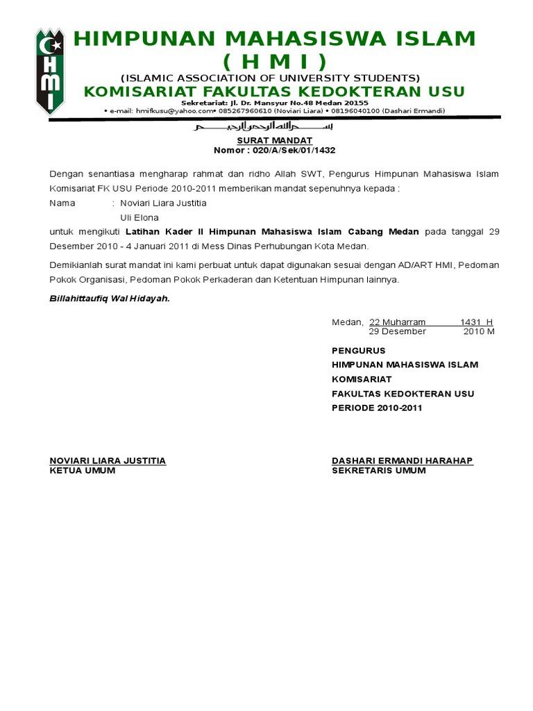 Himpunan Mahasiswa Islam Hmi Komisariat Fakultas