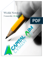 Commodity Weekly Newsletter 10 Apr to 14 Apr