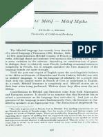 Le Conte Metis - Metif Myths