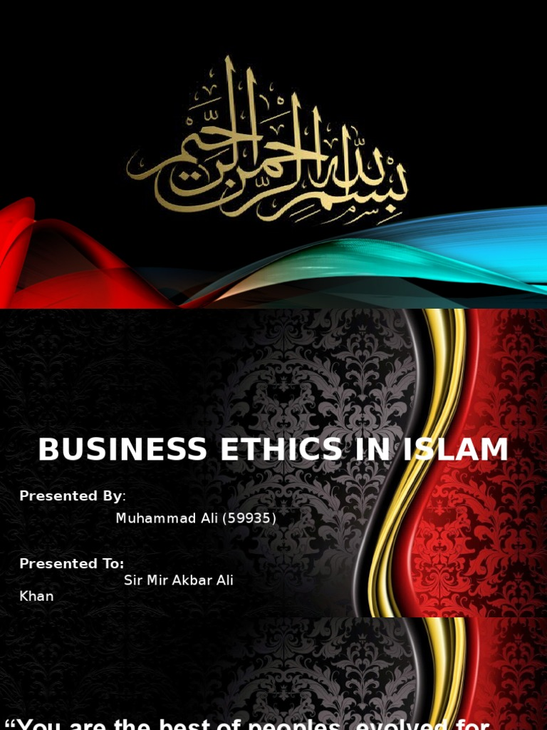 islam and business ethics