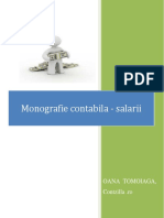 Salarii-monografie contabila