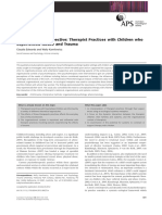 An Ecological Perspective Therapist Practices With Children Who