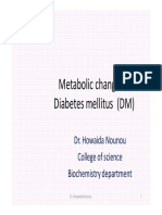Metabolic Changes in Diabetes Mellitus (1)