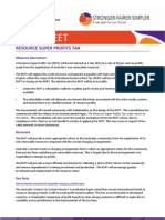 Fact Sheet Resource Profit Tax