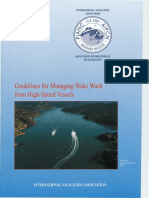Guidelines for Managing Wake Wash From High-speed Vessels