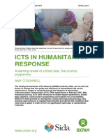 ICTs in Humanitarian Response