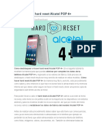Desbloquear   hard reset Alcatel POP 4+