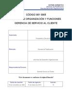 Manual de Organización y Funciones - Gerencia de Servicio Al Cliente